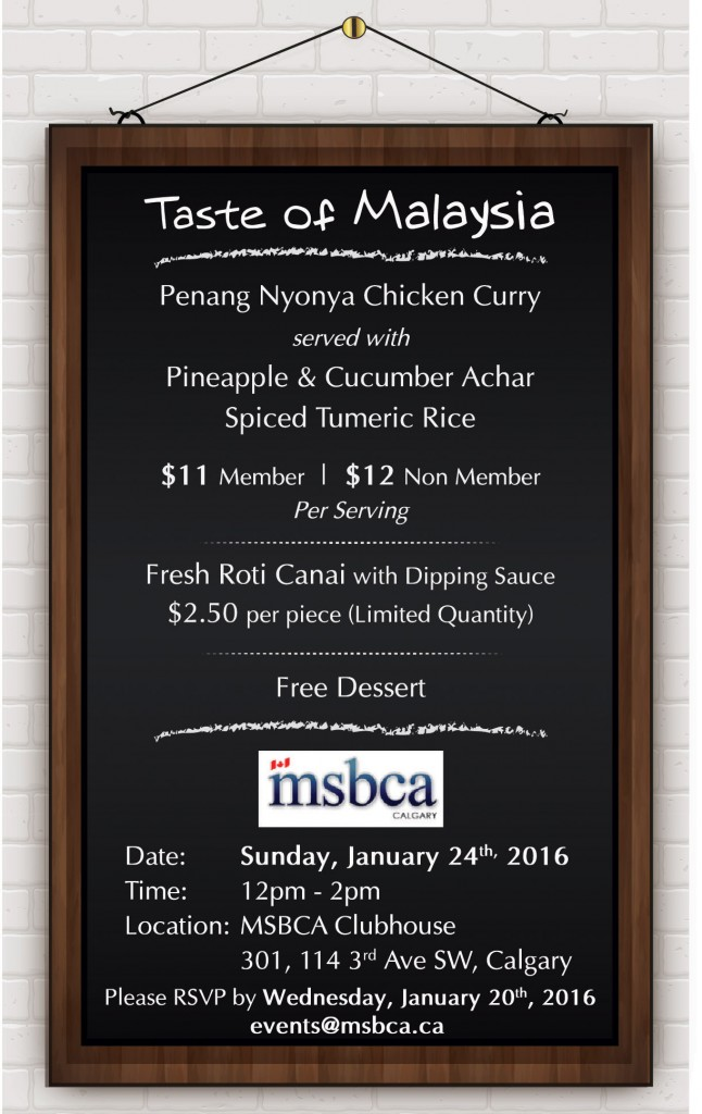 Treat Your Taste Buds To A Taste Of Malaysia Msbca Calgary
